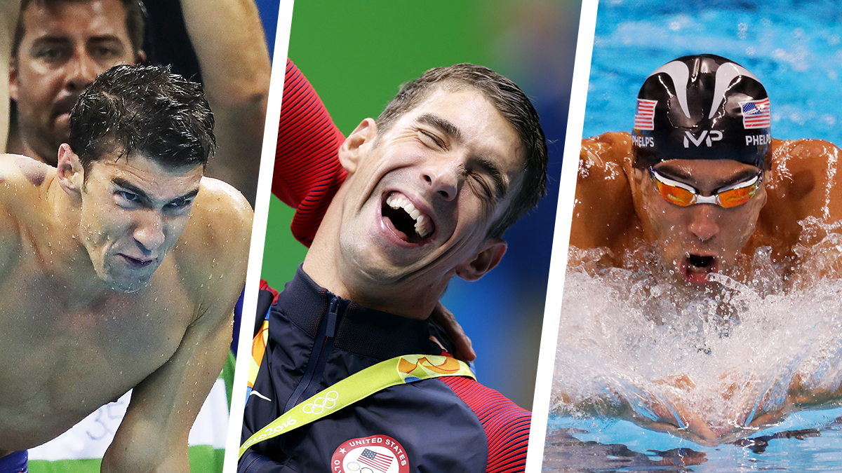 Some of Phelps' faces.