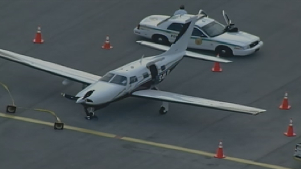 Authorities said this is the plane that is connected to the incident they are investigating.