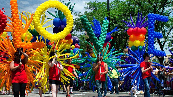 Lots of color was on display at the 2103 Chicago Pride Parade.