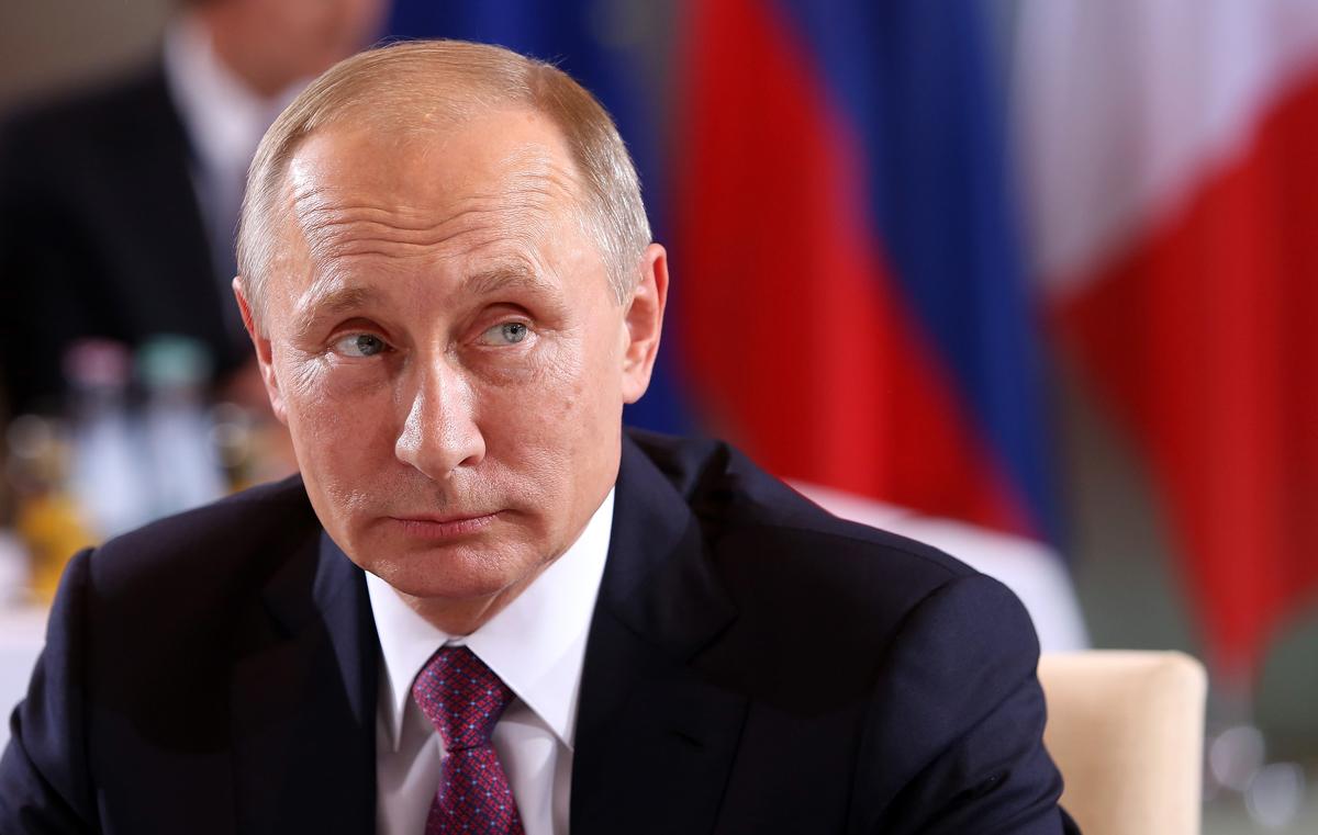 A file photo of Vladimir Putin.