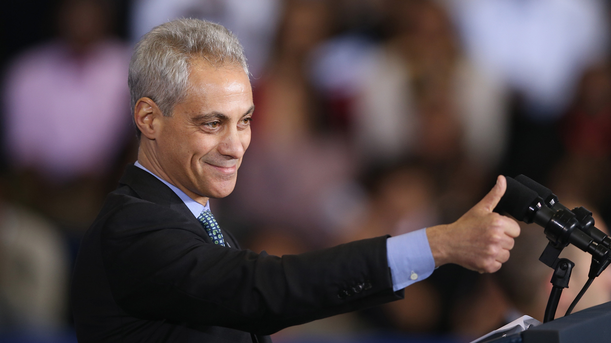Mayor Rahm Emanuel won reelection on Tuesday night after a hard-fought battle with Jesus