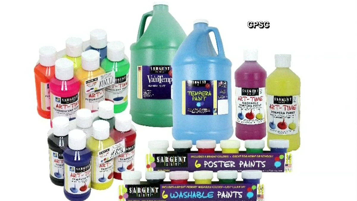 Sargent Art recalls 2.8 million units of craft paint sold across the country from May of 2015 through June of 2016 due to risk of bacterial infection.