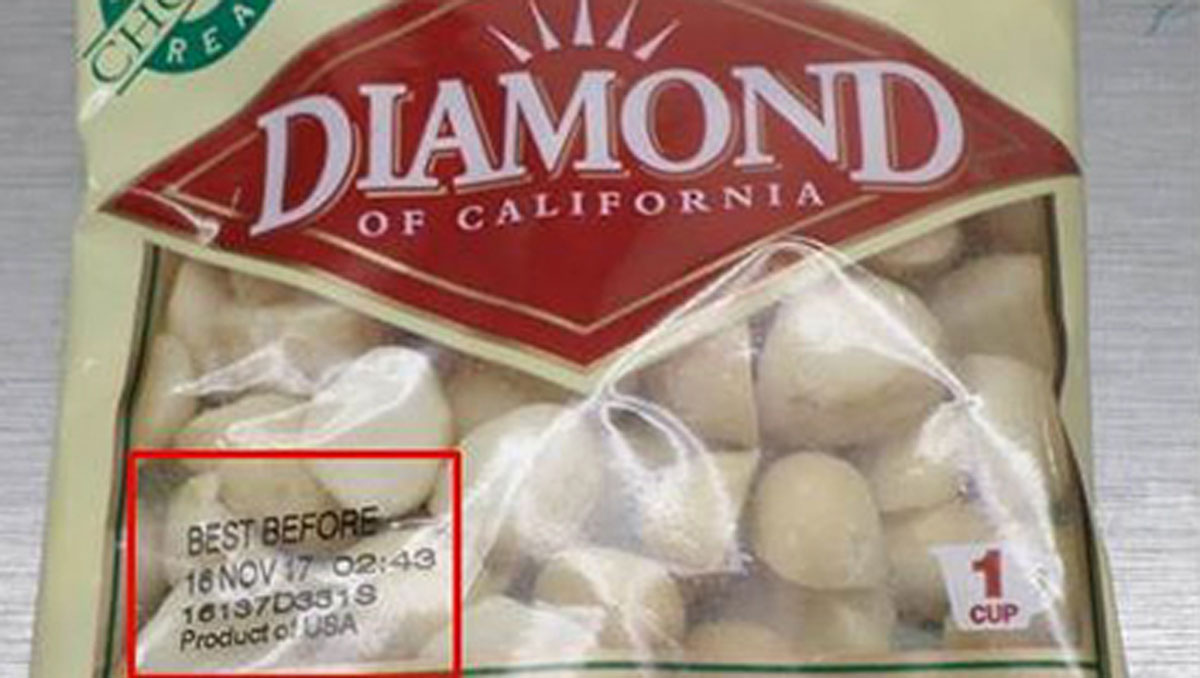 A photo of the nuts that are being recalled.