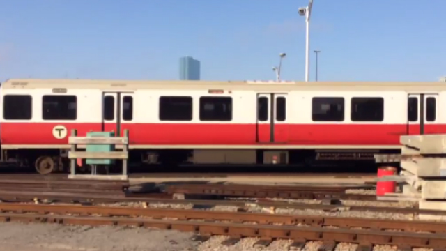 The runaway Red Line train.