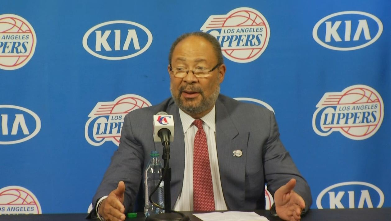 Richard Parsons spoke at a news conference to address his goals as the Clippers' interim CEO on Monday, May 12, 2014.