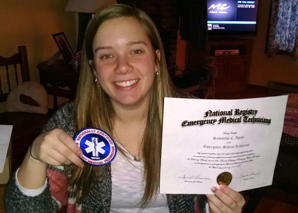 Samantha Agins, 22, died from a series of strokes she suffered after she tore an artery delivering CPR to a camper. Photo Courtesy of Agins Family.