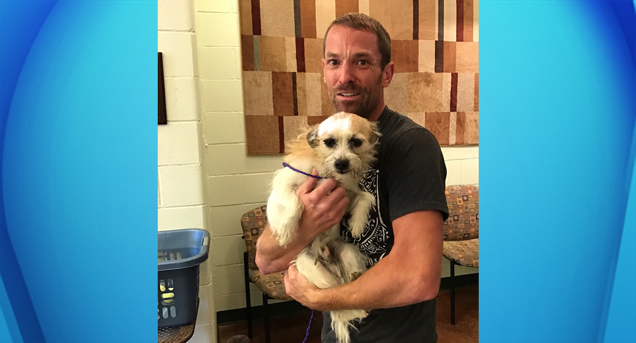 Michael Greer, of Palm Springs, cried tears of joy after reuniting with his terrier Scruffy, who had been missing for 371 days. (Published Wednesday, Oct. 18, 2016)