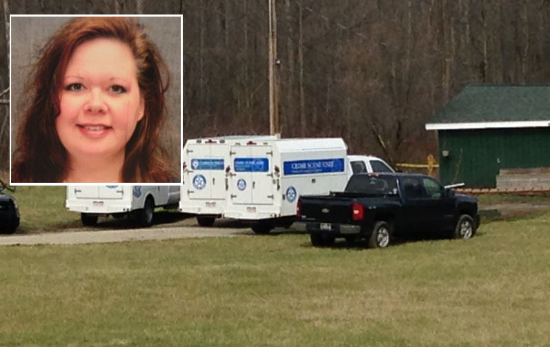 The bodies of Stephen Bice, 53 and his wife Kristi Bice (insert), 42, were found at their Hudson home in the 7000 block of Ravenna Road Saturday at noon.