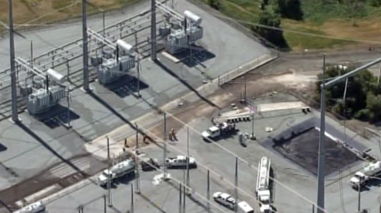 This is the substation that was attacked. What was initially described as