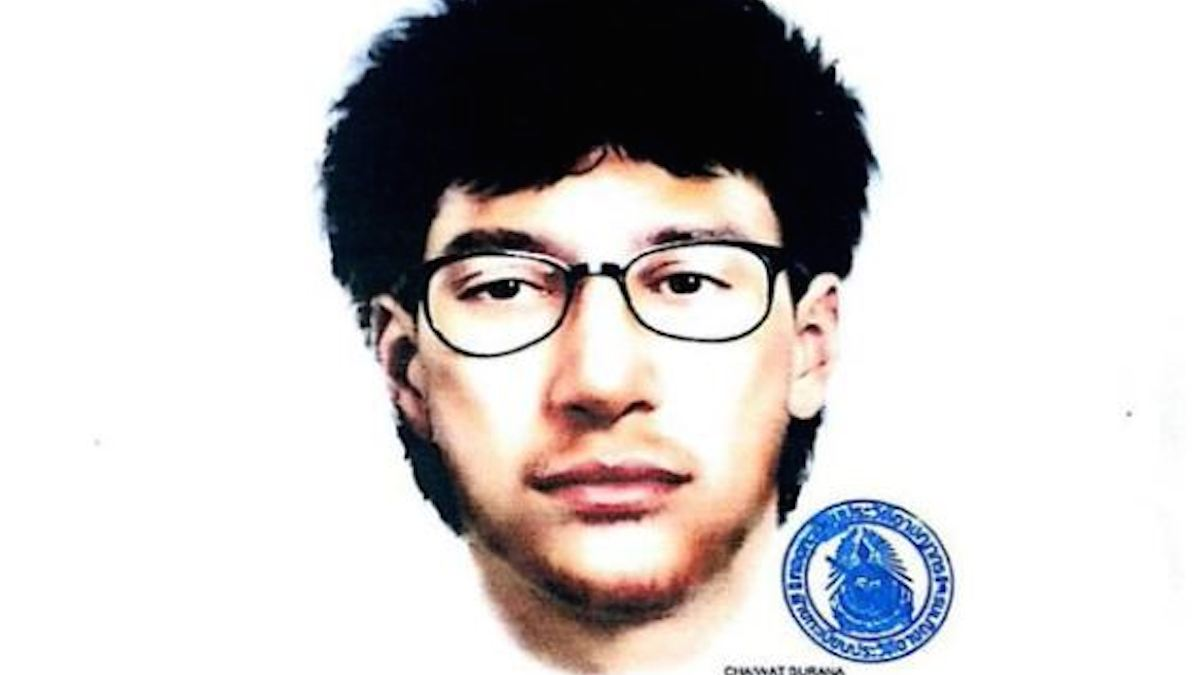 Thai police have released a electronic sketch of a suspect in Monday's Bangkok bombing.