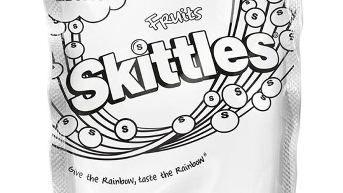 A photo of the limited edition Skittles available at Tesco in the U.K.