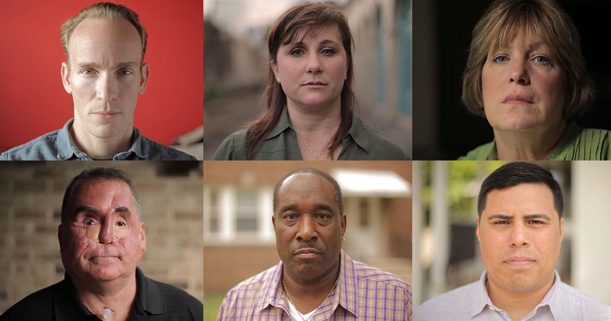 From top left to bottom right: Benedict Jones, Sara Cusimano, Lisette Johnson, Jon Brough, Jeffrey Shine and Dan Pina.