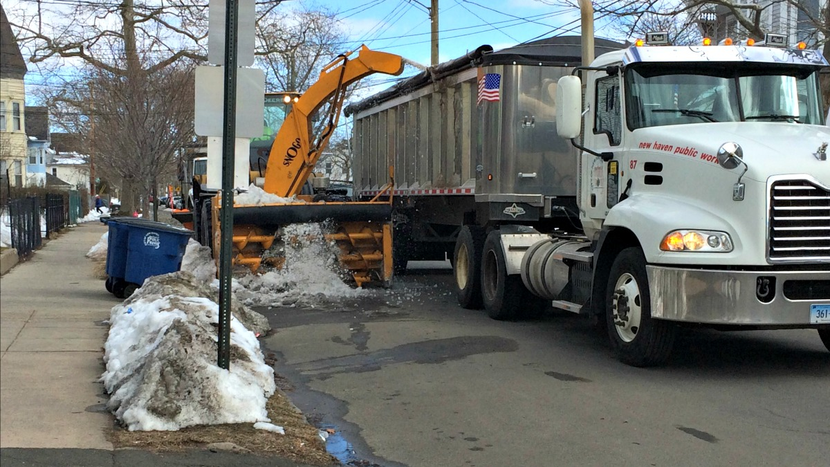 A week after a blizzard dumped a foot of snow in New Haven, the city is issuing targeted parking bans on streets where more snow still needs to be removed.