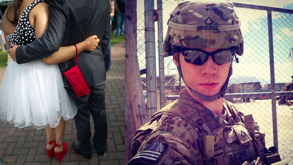 John Russino (right) is a South Philadelphia High School graduate, now serving in Afghanistan.