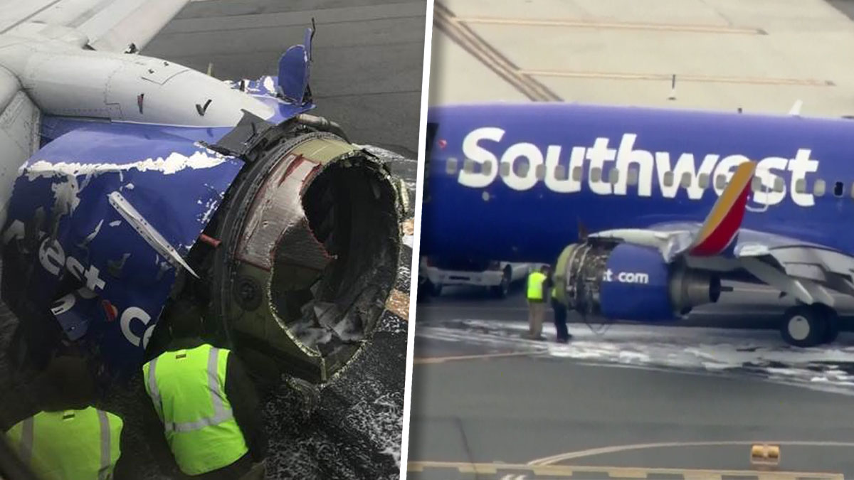 A Southwest Airlines flight headed for Dallas with 148 people on board made an emergency landing at Philadelphia Tuesday after a major problem with an engine broke a window in the cabin and caused the plane to depressurize. (Published April 17, 2018)