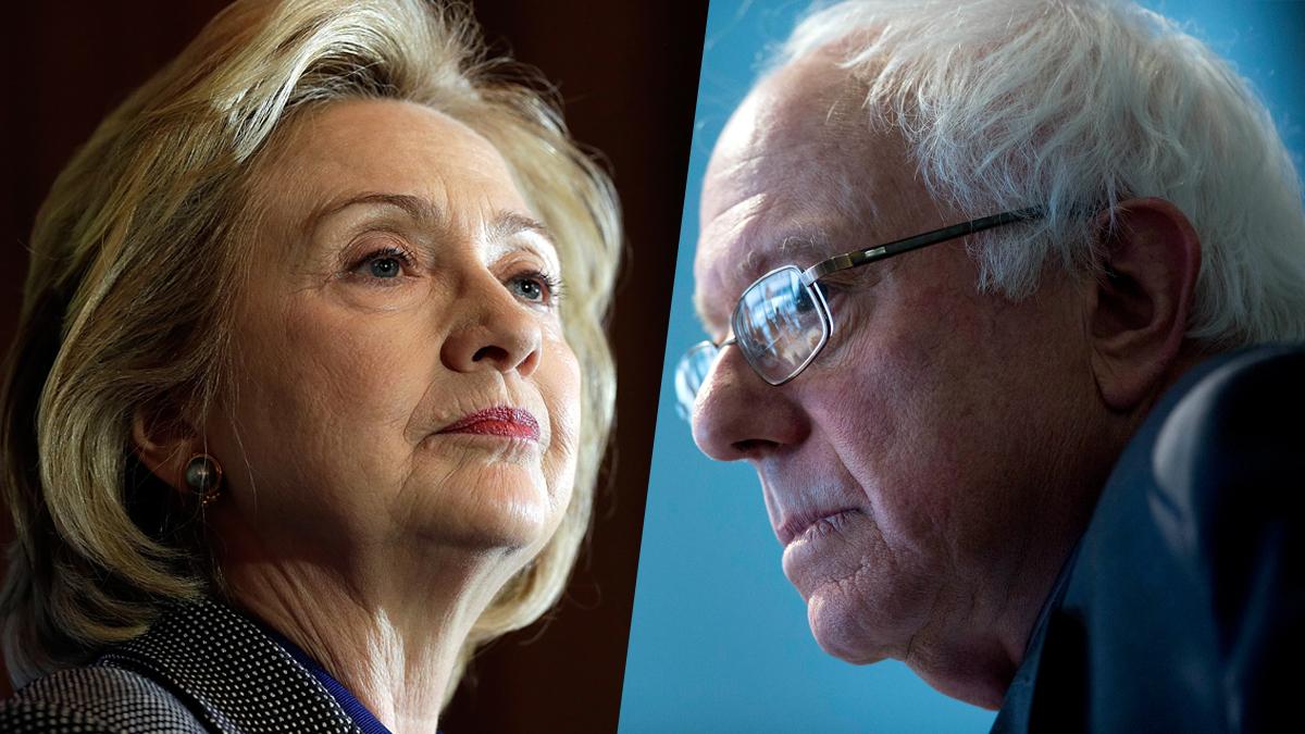 Former Secretary of State Hillary Clinton and Sen. Bernie Sanders (I-VT).