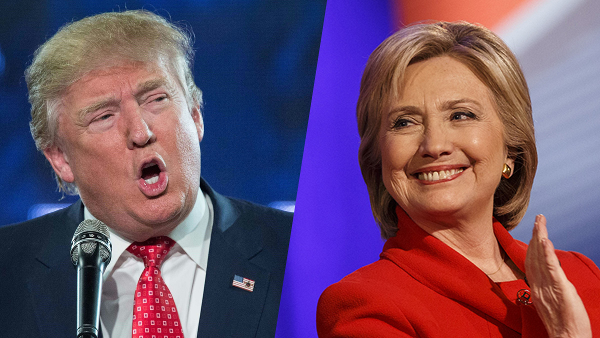 Donald Trump and former Secretary of State Hillary Clinton
