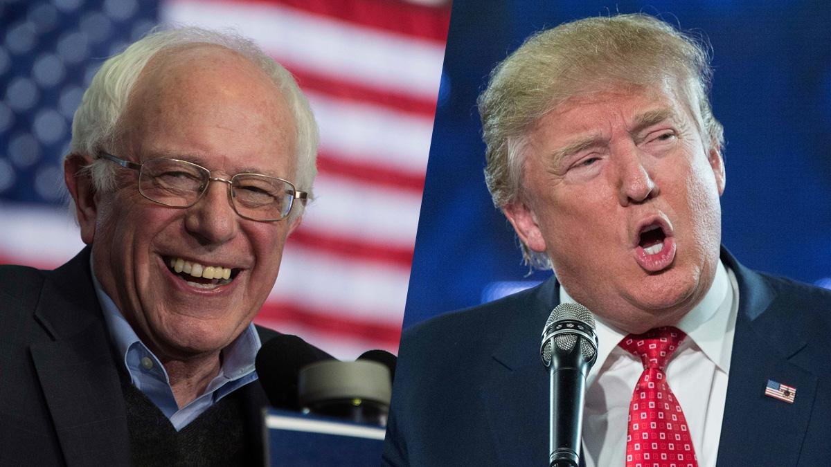 Sen. Bernie Sanders and Donald Trump