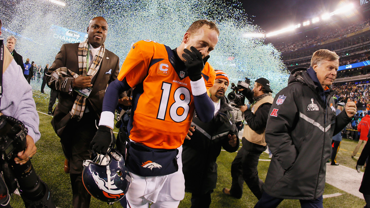 The history of the Super Bowl has seen its fair share of shocking upsets, horrendous blunders and lopsided routs, including the Denver Broncos 43-8 loss to the Seattle Seahawks in 2014. Take a look at some of the most heartbreaking Super Bowl moments through the years.