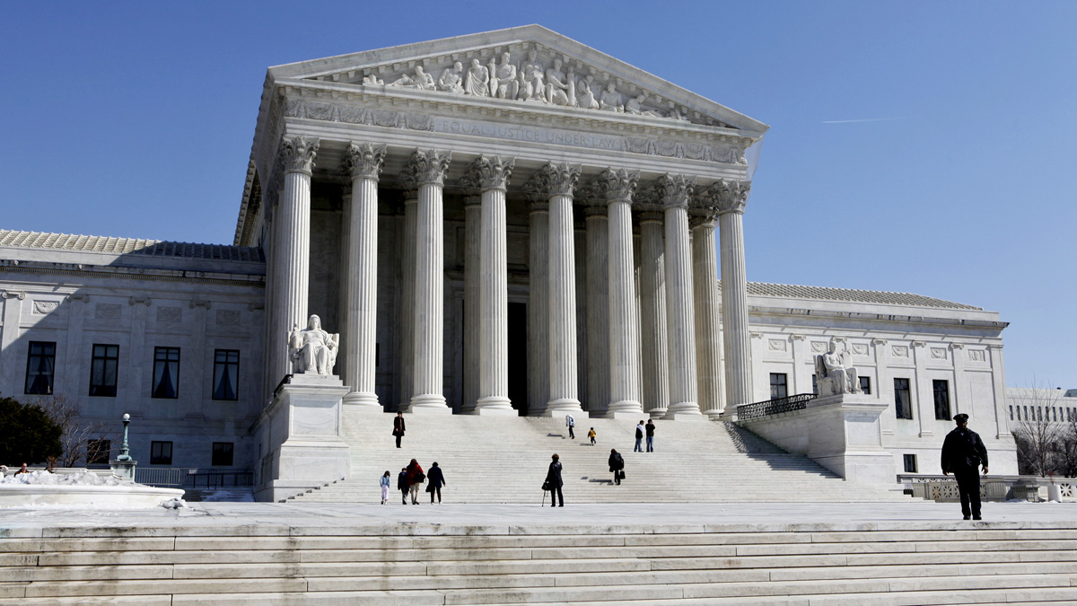 This March 5, 2009, file photo shows the U.S. Supreme Court building in Washington, D.C.