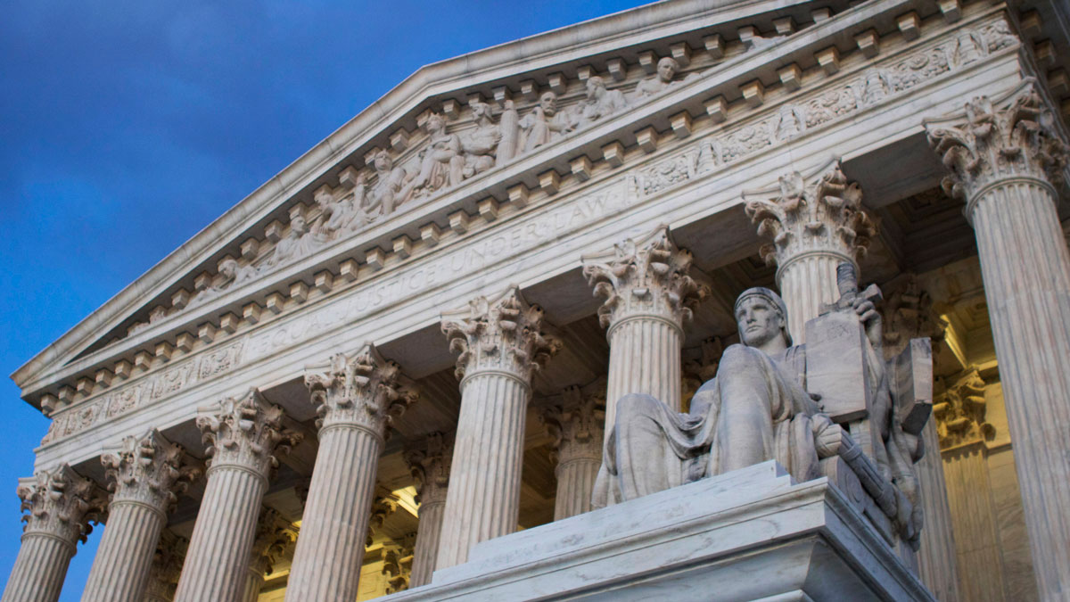 In this Feb. 13, 2016, file photo, the Supreme Court building is seen Washington.