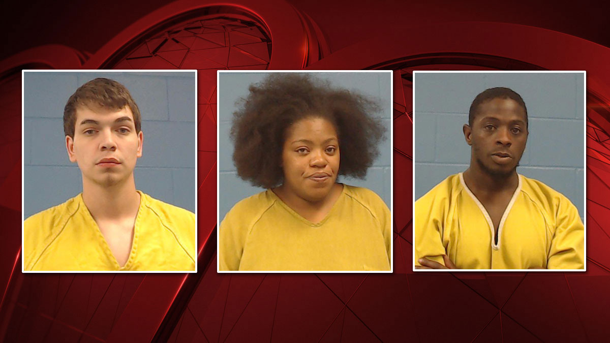 Three people were arrested after police in Taylor, Texas say a child found an ecstasy pill in a hamburger from Sonic Drive-In. Those arrested include (L-R) Jose Molina, Tanisha Dancer and Jonathan Roberson.