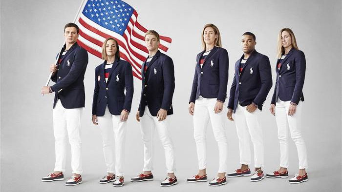 A look at the complete outfit that will be worn in Rio at the Opening Ceremony.