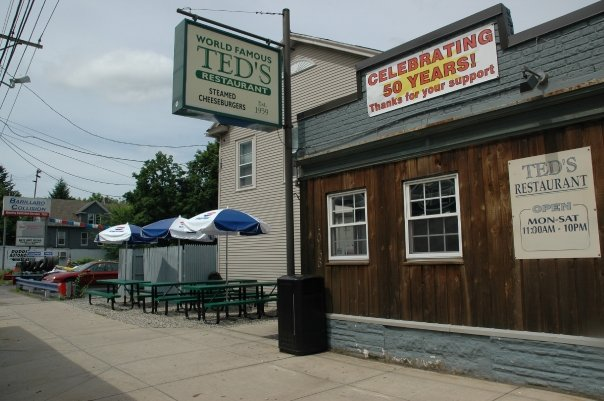The original Ted's Restaurant in Meriden has been serving steamed burgers since 1959.