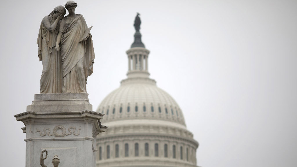 WASHINGTON, DC - DECEMBER 31: The U.S. Capitol is shown during a partial shutdown of the federal government on December 31, 2018 in Washington, DC. (Photo by Win McNamee/Getty Images)