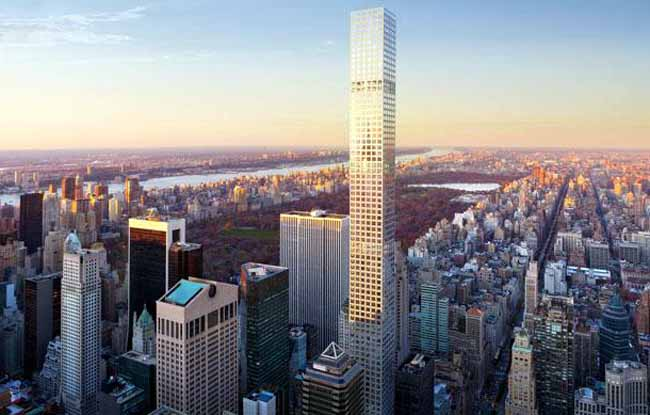 An artist rendering of what 432 Park Ave. will look like upon completion in 2015.