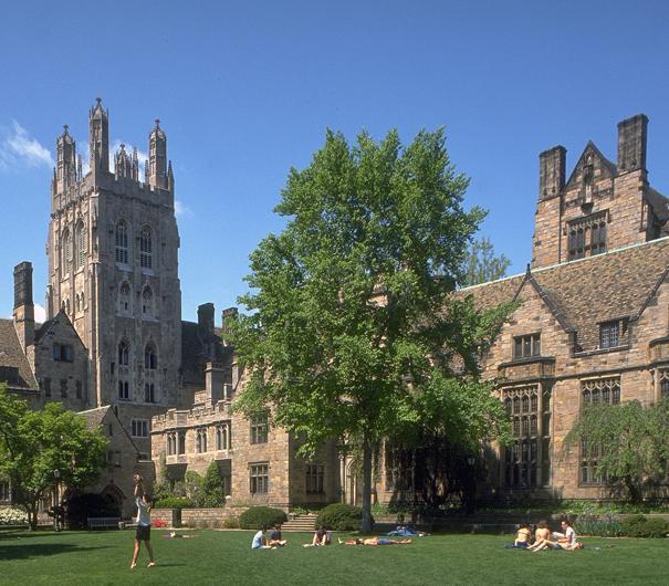 La famosa universidad de Yale University, en New Haven, CT, ocupa el quinto lugar.