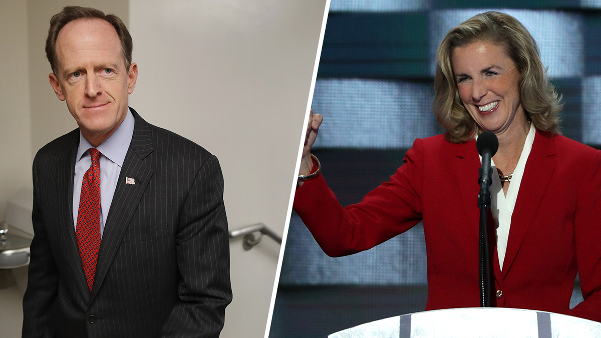 Super PACs have spent $31 million in Pennsylvania this year, most of it for negative ads targeting one-term Republican Sen. Pat Toomey, left, or his Democratic opponent, Katie McGinty, right.