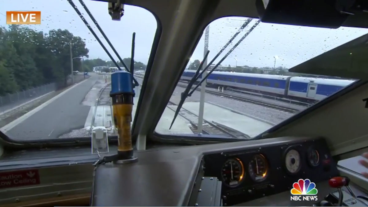 A photo from inside a train. Paul Worley from the North Carolina Department of Transportation shared with the