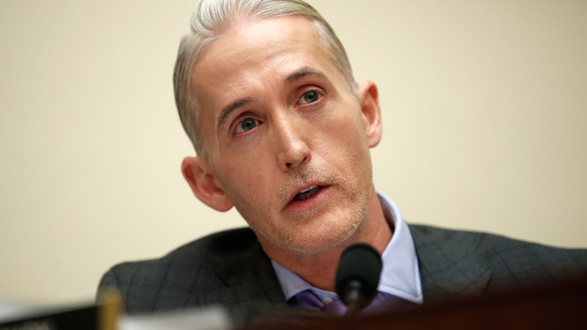 In this Dec. 7, 2017 file photo, House Judiciary Committee member Rep. Trey Gowdy, R-S.C., speaks during a House Judiciary hearing on Capitol Hill in Washington.
