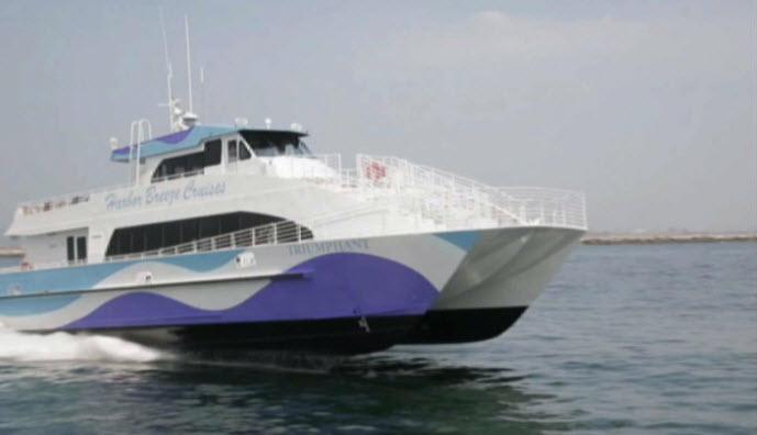The Triumphant catamaran
