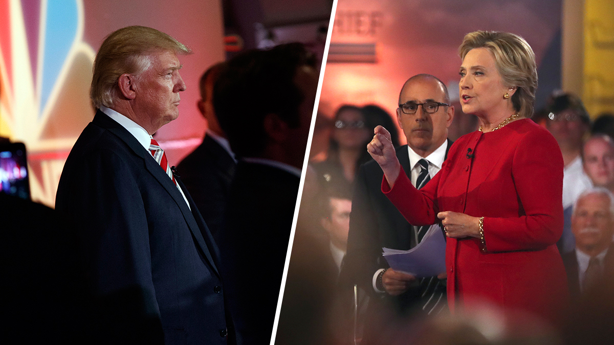 Donald Trump and Hillary Clinton. The latest poll shows that there's a continuing narrowing in approval numbers between the two.