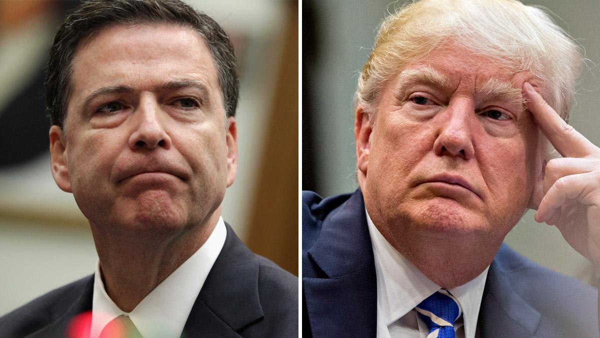 Former FBI Director James Comey; 45th U.S. President Donald Trump.