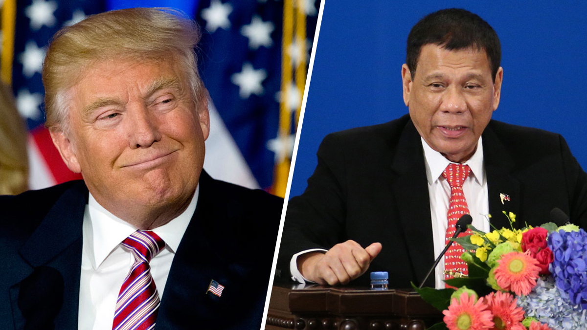 U.S. President Donald Trump, left, and Philippines leader Rodrigo Duterte.