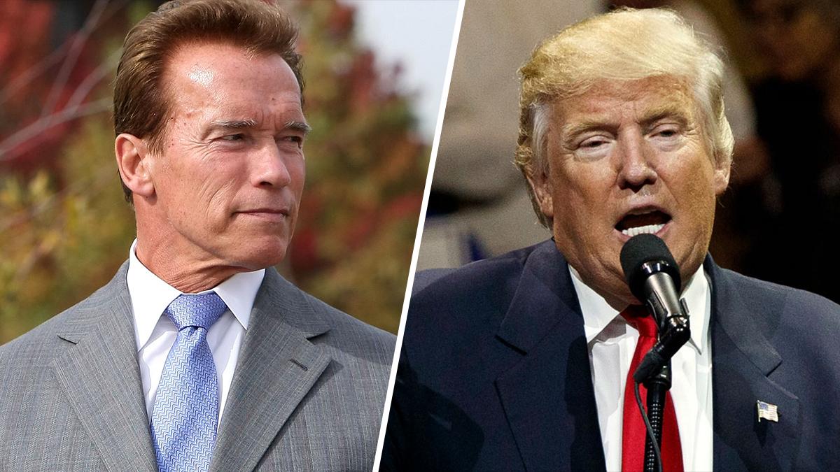 Anold Schwarzenegger and Donald Trump