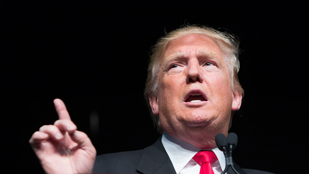 Republican presidential front-runner Donald Trump