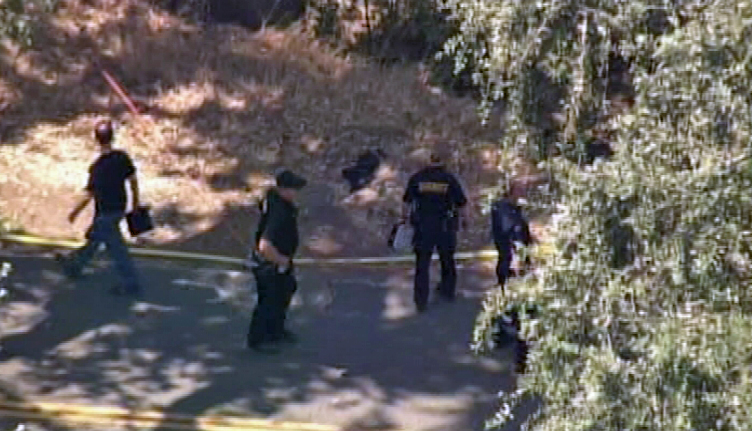 Authorities on the scene in Vacaville, Calif., after a female body was discovered during the search for a missing federal investigator from Oakland, Sandra Coke.