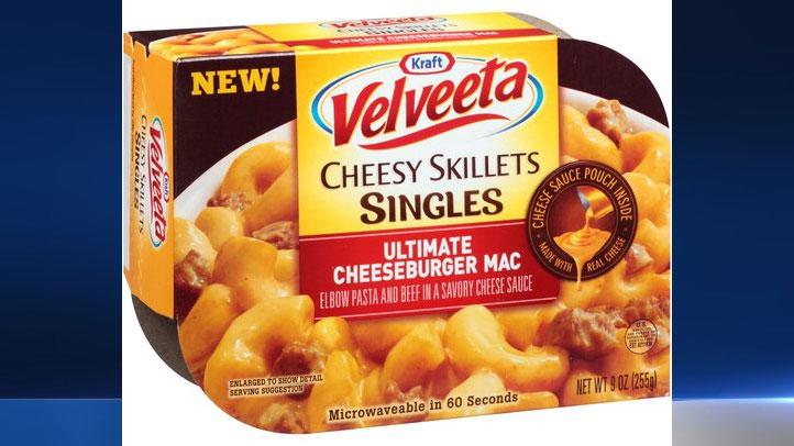 About 1.77 million pounds of Kraft Velveeta Cheesy Skillets Singles