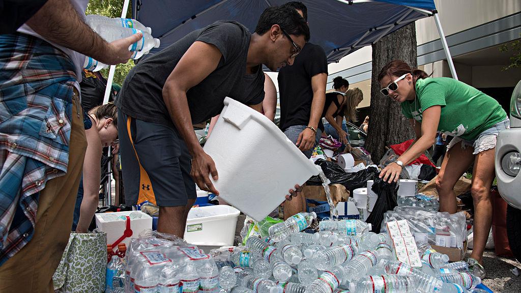 Volunteers work at OneBlood, a blood bank in Orlando, Florida, on June 12, 2016.
