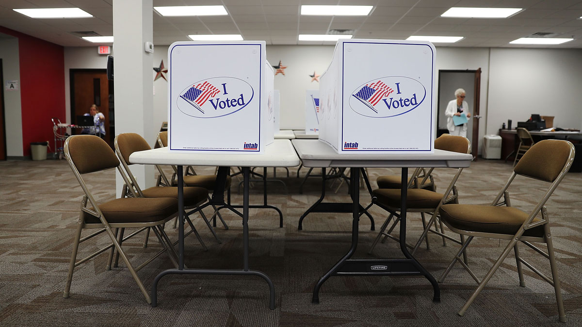 File photo of voting booths in Bradenton, Florida.