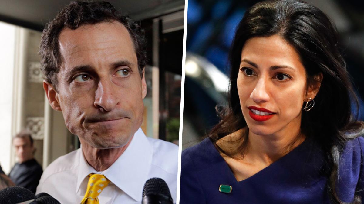 Anthony Weiner, left, and Huma Abedin