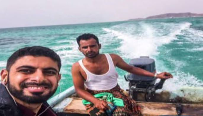 It took Mokhtar Alkhanshali almost four days by boat and plane to make it home from Yemen.